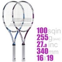 バボラ・ドライブライトは初心者向きですか?  硬式テニスラケットについて。 255gという重さですが、これは女でも軽すぎ? 普段使ってるやつです。  「試しにこの重いラケット振ってみて 」と上級者に渡さ...