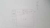 北向き、南向きについて教えて下さい。 簡単な手書きの図の写メを付けていますが、この場合のトイレは何向きというのですか?  (簡単、雑な図ですいません)