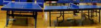 試合会場の卓球台のバウンド(跳ね?)が、自宅や練習場の卓球台のバウンドと明らかに違ってサーブやレシーブでミスする事ってありますか? 私は自宅で三栄の卓球台 https://item.rakuten.co.jp/alpen/2860300104/?s-id=pc_shop_recommend を使っています。 練習場では、バタフライなどの卓球台で、それほど違和感を感じません。  とこ...