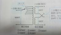 電験三種機械、変圧器の問題が分からないので、教えてほしいです。 (問題)図の柱上変圧器のタップにおいて、二次電圧が下がったとき、一次側のタップの位置は①あるいは③のどちらに切り換えたらよいか。 よろしく...