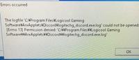 logicool g502とdiscordについて  先日ロジクールのg502を購入し、ソフトウェアをインストールしたのですが、それ以降pcを再起動するたびにタスクバーにディスコードのアプリケーションが表示 されると同時に、画像のようなメッセージが出るようになりました。 OKを押しても何がどうなるわけでもないのですが、毎回出てくるので非常に面倒です。 詳しい方、解決策をご教授下さい。