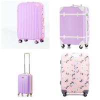 娘の修学旅行にスーツケースのレンタルをしようと思っています。レンタルなので、デザイン第一で選ぼうと思っています。 こちらの写真のようなパステルカラーのスーツケースがレンタルできるところ知りませんか?