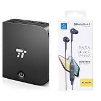 テレビの音声を Bluetoothイヤホンで 聴きたくて  taotronics tt-ba09 Bluetoothトランスミッターを 購入しました。  デジタル音声光出力 テレビ側と トランスミッター SPDIF inを 光 ケーブルに繋げて...