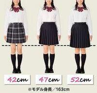 高校の制服スカートの長さどれが好き? 男性の方も自分から見て、返答お願いします。
