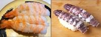 エビのお寿司とシャコのお寿司、どっちが食べたいですか?