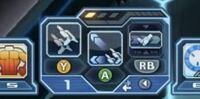PSO2 Switch版 をしている方に質問です! 初心者です! 武器のスキルをはめるパレットについて質問です! この画像のように3個のスキルを1つの枠にはめる方法が知りたいです!