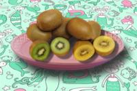 緑と黄色…どちらのキウイフルーツが好きですか?
