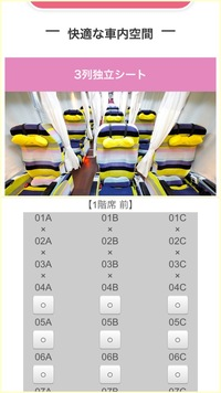 ウィラーの夜行バスの座席指定についてです。  WILLER EXPRESS ボーテ 3列独立のメイン通路は写真で言うとBC間になりますか?  どちらも通れるようにはなってると思いますが、どちらかはか なり狭くなってるように見えたので分かる方いたら回答お願いします。
