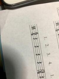 軽音部初心者です!! この音符??の意味が全くわかりません これはなんの意味ですか??ドラムですが