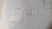jwCADで 立面図を書いています。 軒高の高さが違う(寸法の入っていない) 屋根の書き方が判りません。 検定の70回の問題なのですが、さっぱりです(T-T)。 教えて下さいm(__)m。