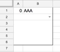 Google スプレッドシートで、特定の複数セルの色付を行いたいのですが、調べてもどういった方法でできるのかわかりません。 A2とB2を統合し、プルダウンメニューにし、 そのプルダウンメニューで『あ』を選択し...