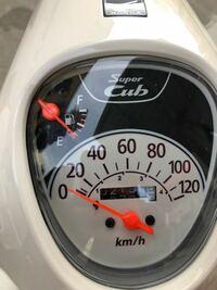 スーパーカブ(JA44)のメーターなのですが、左上がガソリンの量、真ん中がスピードメーターなのは分かるのですが、スピードメーターの内側に1~4の数字が書かれているのですが、これにはどんな意味があるのでしょうか ? 教えてください
