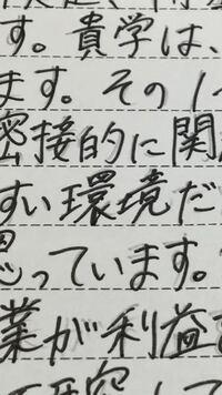大学に出す学修計画書なんですけど、環境の環の文字の下棒が右に変に跳ねちゃったのですが、書き直した方がいいですか?