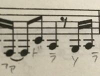 バロック式のアルトリコーダーで写真の音の指使いを教えていただきたいです。 画質が荒くて申し訳ないです…。