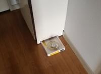 団地の洗濯機用防水バンが小さい!  団地の防水バンが画像のようにやたら小さいです。  この場合、防水バンを別途買ってその上に洗濯機を置けば水漏れは心配ないでしょうか? また、嵩上げも行わなければいけ...