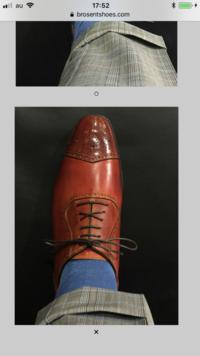 内羽根の革靴ですが、羽根が閉じきってるのはダサいですか?