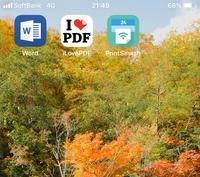 iPhoneのwordのアプリからPDFにうつす方法を教えてもらいたいです。 調べたのですがちょっとわからなくて… この画像のアプリとiPhoneに元々あるアプリを使ってできる方法があれば教えてくださ い。 回答よろしくお願いします。