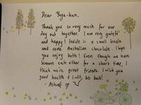翻訳お願いします! オーストラリアの友達から手紙をもらったのですが、僕の英語力では翻訳できません...  お手数ですが、翻訳していただけると嬉しいです。 お願いします。