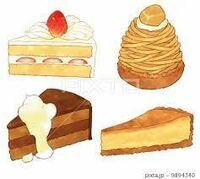 チョコレートケーキ モンブラン ショートケーキ チーズケーキ どれが食べたいですか?