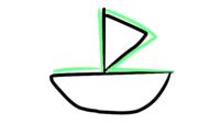 ジョジョ第五部のズッケェロ戦「船は二隻あった」について質問です ズッケェロは図のように船を被せて(黒は1隻目、緑が被さってた)隙間からブチャラティ達を攻撃していたのでしょうか? アニメと原作両方見てもモヤモヤが残ります