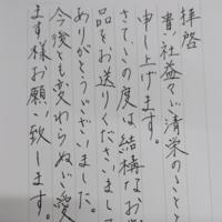 この字は綺麗でしょうか? 汚いでしょうか? これでお礼状を書くのは 失礼ですか? 印刷にすべきですか?