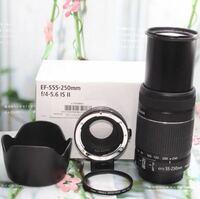Canonの 55-250mm望遠レンズ って綺麗に撮れますか? それとCanonミラーレスの単焦点レンズって 背景綺麗にボケますか?