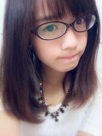 【メガネ画像有】高3女子です。私のメガネは度が強く見えますか?目は悪いです。