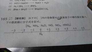 分子式,数直線,核物質,窒素原子,酸化数