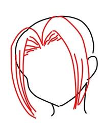 髪型のことで質問です。  アニメであるような、上げて落とす? ような前髪、 (絵で描いてみたんですが分かりにくかったらすみません!) あの髪型の名前とかあったら教えてほしいです…!  私が知っている範囲だと 進撃の巨人のハンジや、ヒロアカの八百万百などです!  もし分かる方いらっしゃれば 実際にどうあの髪型にするのかも 教えてほしいです!