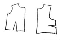 型紙のダーツを無くす方法 画像のような位置にダーツがある型紙をダーツなしにしたいのですが、 そういう場合はどこのラインで繋げばいいんでしょうか。