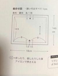 型紙のことでしつもんです。 型紙には縫い代が含まれておりません、 布を裁つときは、裁合わせ図に書いてある、縫い代を付けてください とかいてあります。ただ、このレシピだけ簡単な物で型紙がありません。どう...