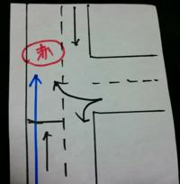 週末になると自転車のツーリングの男性達が、T字路が赤信号なのに一度も止まる事なくそのまま信号無視をして渡っていくのを頻繁に見るのですが、 T字路で反対車線が右左折しかないからって、もちろん赤で渡ったらダメですよね? 週末になると赤で渡るツーリングの人をあまりにも見るので不思議に思いました。 画像の青がツーリングの自転車です。いつも3~5人で走っている男性をよく見ます。