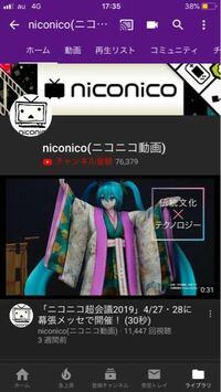 Youtubeのニコニコ動画というチャンネルって公式ですか?非公式ですか?
