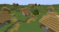 マインクラフトJavaの1.14のアップデートで、村が画像のように変わりますよね。アップデートした時、既に見つけた村は画像のように変わりますか?