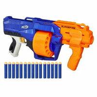おもちゃの銃、「ナーフ」のデザインは、軍隊や警察が使用する銃に当てはめると、どんな銃に属するのでしょうか?