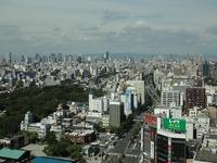 梅田スカイビルはどの位置ですか? これは、あべのハルカスから見た景色ですが、 梅田スカイビルはどのあたりですか!?