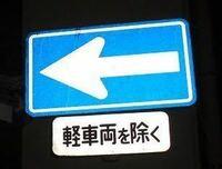 この標識の意味なんですか? 軽車両は行けるという事ですか?