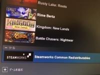 SteamのライブラリにSteamworks Common Redistributablesと言うツールバーが追加されています?  此れは何ですか? 削除してもよいものか分かりません。  回答お願いいたします。