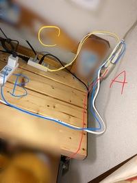 延長コードに延長コードと延長コードは大丈夫ですか?!  壁 ・テレビ ・ブルーレイ ・Aの延長コード  Aの延長コード ・エアコン ・Bの延長コード ・Cの延長コード  Bの延長コード (使う時以外はス...