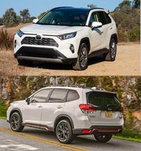 新車でRAV4とフォレスターどっち買いますか?デザインとかどっちがいいと思う?