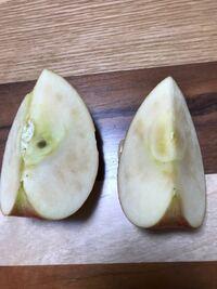 今切ったばかりのこのりんご、痛んでいるんでしょうか? やめた方がいいですか?