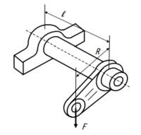 軸の曲げモーメント,ねじりモーメントの問題です。 解き方を教えて下さい。  図のように,F = 5 kN, l = 600mm, R = 300 mm のとき,軸径を求めよ。 ただし、許容曲げ応力および許容ねじり応力はそれぞれ 50 ...