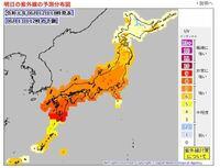 紫外線量についてです。気象庁の紫外線量の数値が1〜13まであり各地の紫外線量を表していますが、この数値は直射日光時での紫外線量になるかと思いますが、影にいた時の紫外線量は直射日光時よりどのくらい数値が...