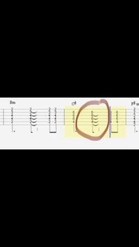 エレキギター 弾き方 図の囲んだ部分は、伸ばすように1回弾くという解釈でいいのでしょうか? それとも、2回弾かなければならないのでしょうか?