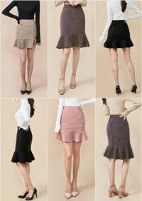 骨格ストレートでこういう形のスカートは似合わないですか? また、もし履くとしたら丈はどちらがいいですか?