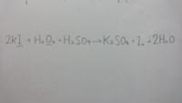 下線部の原子について酸化数の変化を調べ、還元されたか酸化されたかを答えよと質問されているのですが この答えはなんですか