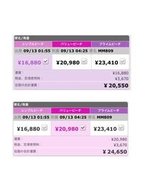 羽田ー仁川間のpeachの航空券について質問です。  添付画像を見て頂きたいのですが、受託手荷物が含まれていないシンプルピーチと受託手荷物込みのバリューピーチの差額は4100円。 羽田ー仁 川間の受託手荷物をインターネットから事前購入すれば1900円。  ということはシンプルピーチを購入したあとにインターネットから受託手荷物を事前購入した方が安いということになりますよね?  普...
