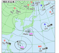 この天気図からして 右下も熱帯低気圧が台風10号になると 言われています この台風は今後どのように動くと 思いますか?東京横断とかも わんちゃんあったりしますか?