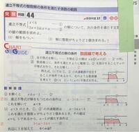 """白チャートの問題です。(2)の問題で、下から3行目から何故""""イ""""のようになるのかわかりません。 どうしてそうなるのか教えてください。"""