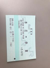 この切符は長距離切符で使える途中下車出来ますか? 距離自体は100キロ超えてるのですが…